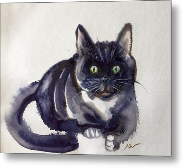 The Cat 8 Metal Print