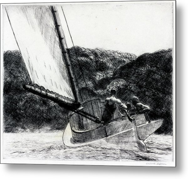The Cat Boat Metal Print