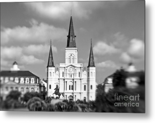 The Cathedral - Bw Metal Print