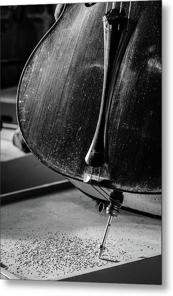 Cello Endpin Metal Print