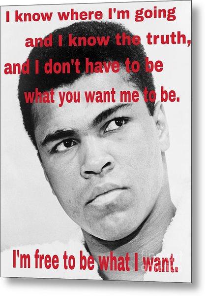 The Champ Muhammad Ali  Metal Print