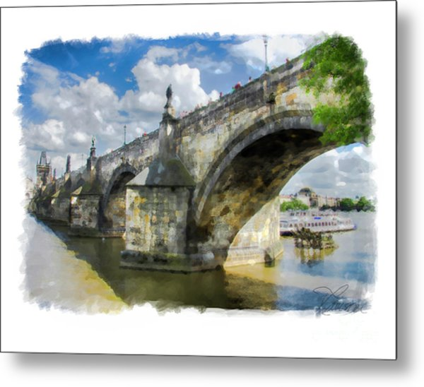 The Charles Bridge - Prague Metal Print