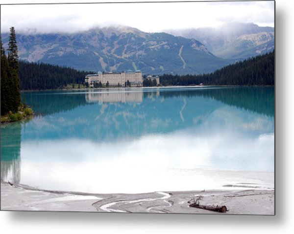 The Chateau At Lake Louise Metal Print