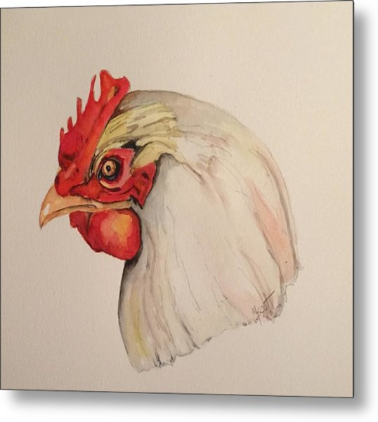 The Chicken Metal Print