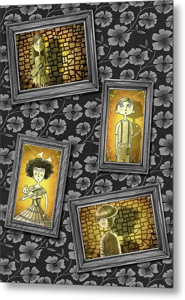 The Children In The Photographs              Metal Print
