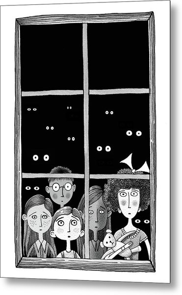 The Children In The Window Metal Print