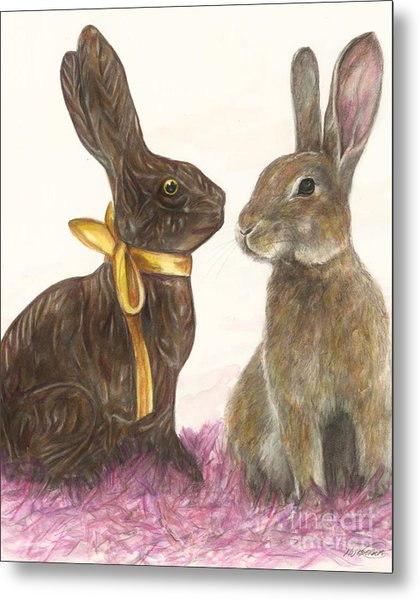 The Chocolate Imposter Metal Print