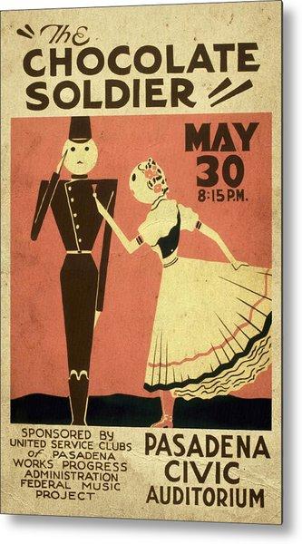 The Chocolate Soldier - Vintage Poster Vintagelized Metal Print