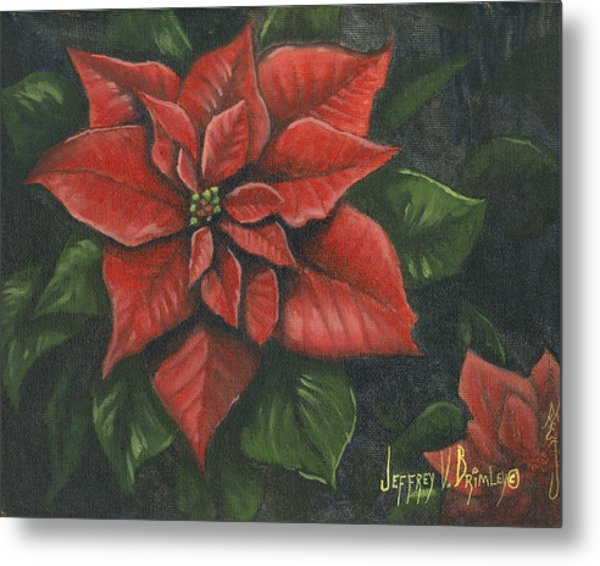 The Christmas Flower Metal Print