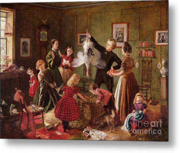 The Christmas Hamper Metal Print