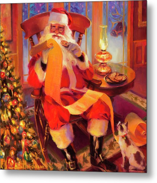 The Christmas List Metal Print