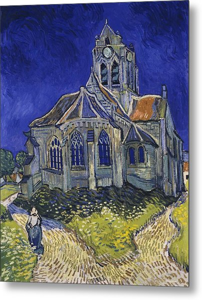 Metal Print featuring the painting The Church At Auvers by Van Gogh