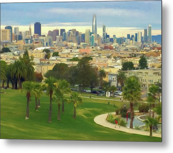 The City From Dolores Park Metal Print