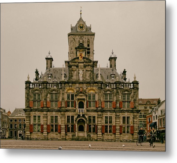 The City Hall Of Delft The Netherlands Metal Print