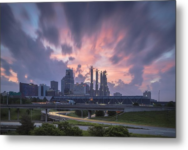 The City Rises Metal Print