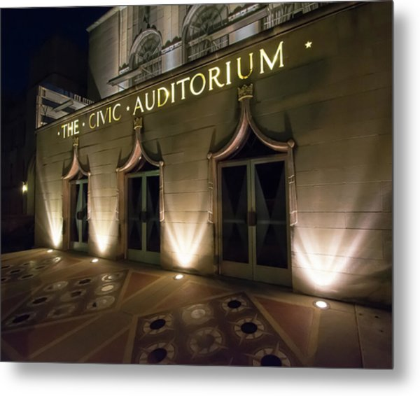 The Civic Auditorium Metal Print