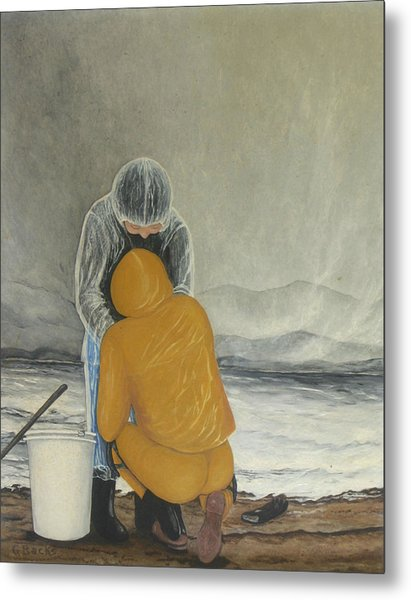 The Clamdigger Metal Print by Georgette Backs