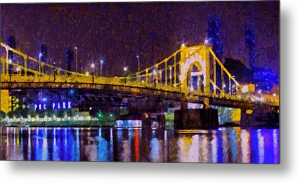The Clemente Bridge Heading To The Northshore Metal Print