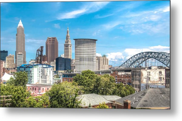 The Cleveland Skyline Metal Print