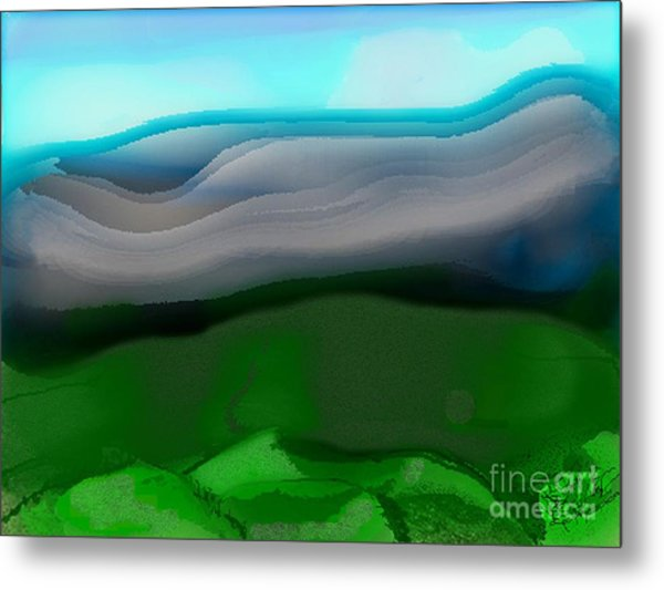 The Hilltop View Metal Print