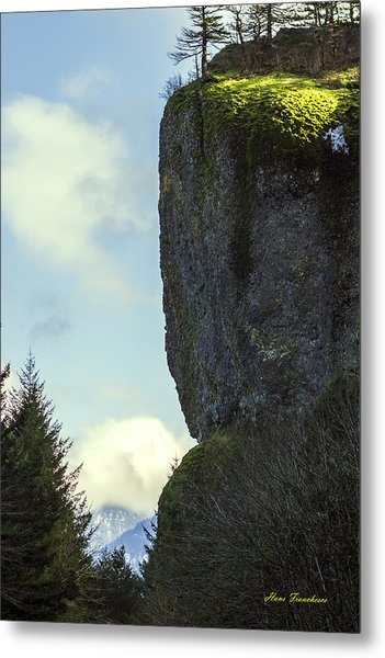 The Cliff Signed Metal Print