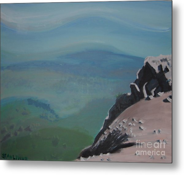 The Cliff Metal Print by Stan Levine