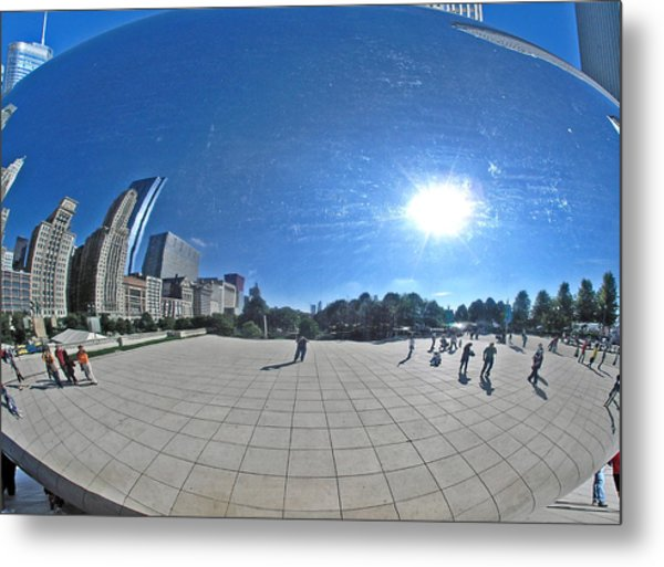 The Cloud Gate In Chicago Metal Print