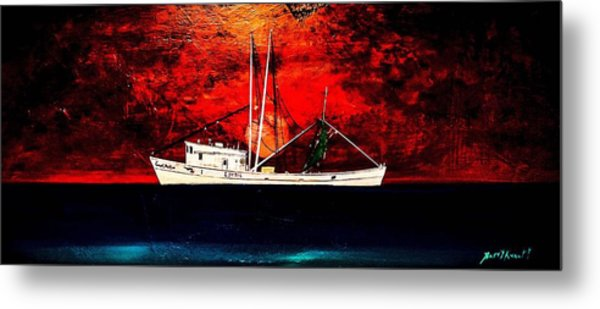 The Clyde Phillips At Sea Metal Print by Barry Knauff