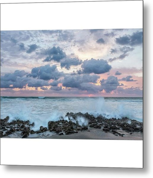The Coastline In Jupiter, Florida Metal Print