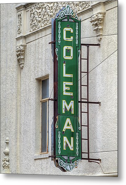 The Coleman Theater Metal Print by JC Findley
