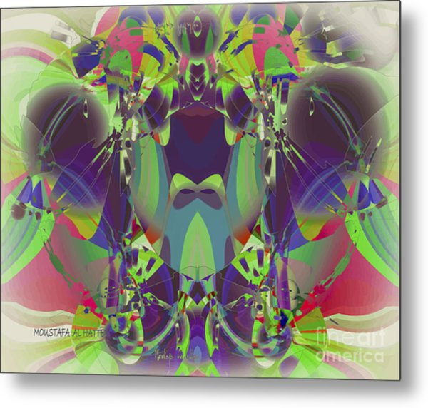 The Color Mask Metal Print