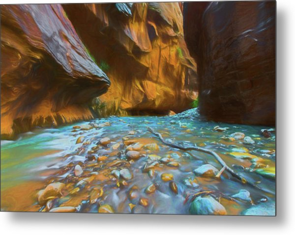 The Color Of Water Metal Print