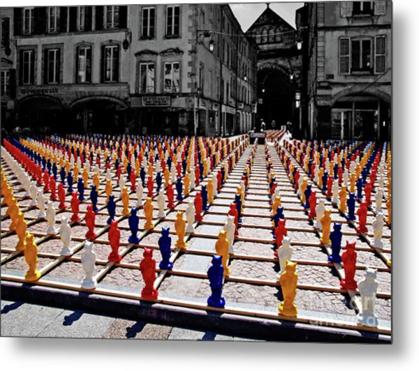 The Colored City Army Metal Print