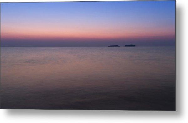 Dawn At The Mediterranean Sea Metal Print
