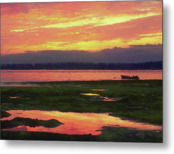 The Colors Of Ship Creek Metal Print