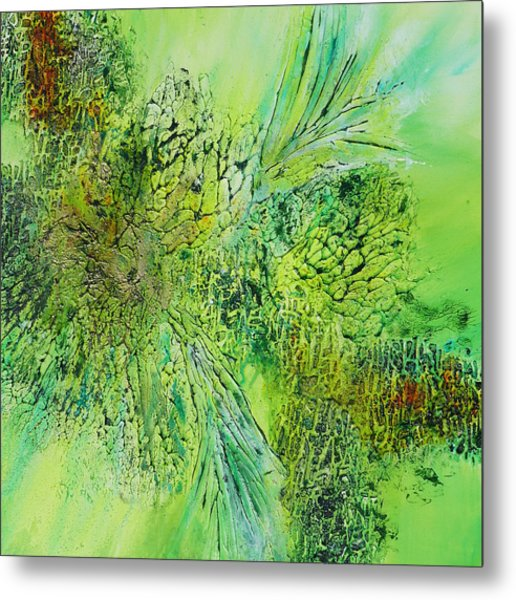 Abstract Art - The Colors Of Spring Metal Print