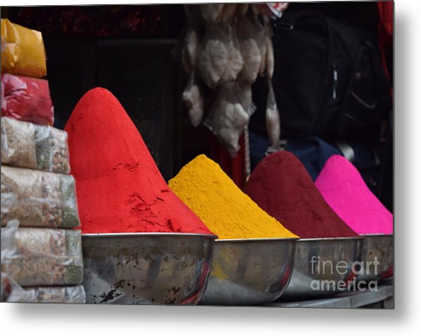 The Colours Of Holi Metal Print