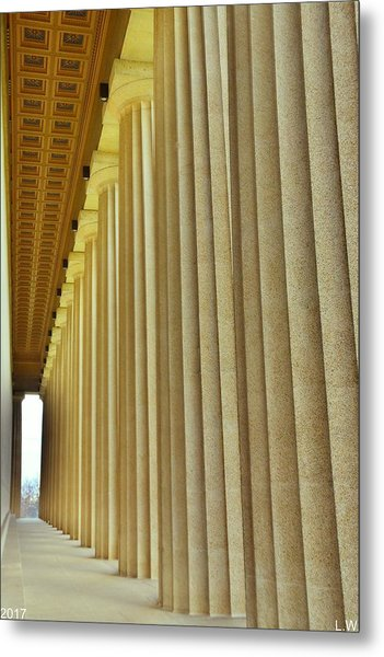 The Columns At The Parthenon In Nashville Tennessee Metal Print