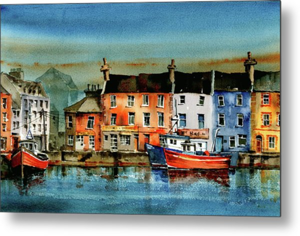 The Commercial Docks, Galway Citie Metal Print