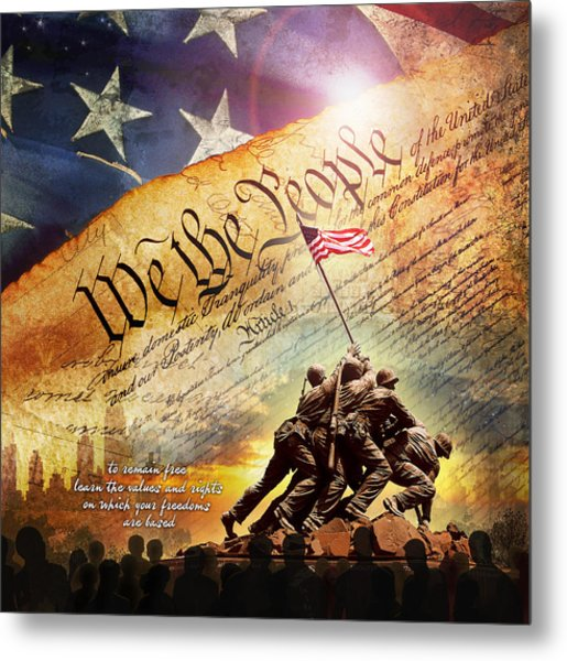 The Constitution Metal Print