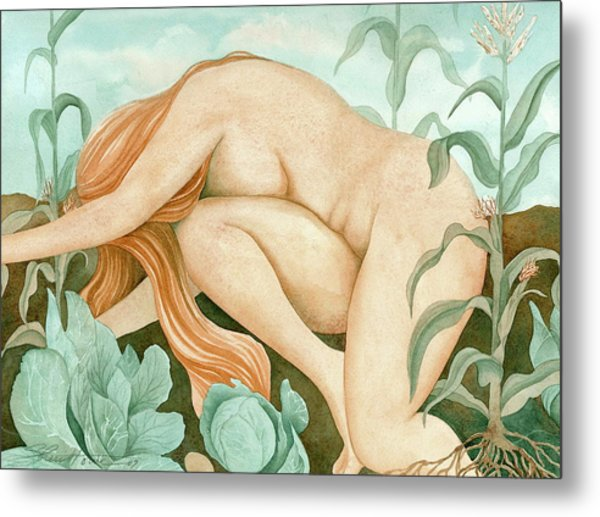 The Corn Maiden Metal Print