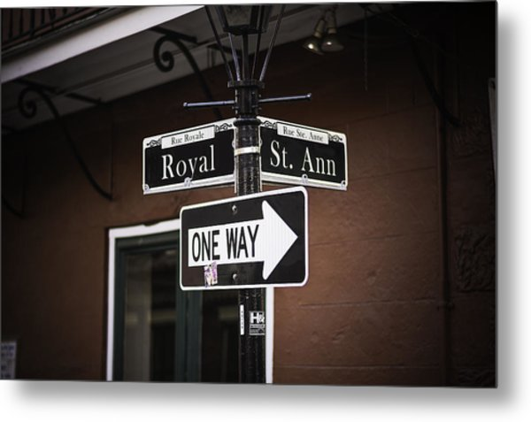 The Corner Of Royal And St. Ann, New Orleans, Louisiana Metal Print