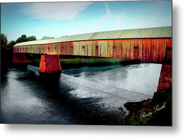 The Cornish-windsor Covered Bridge  Metal Print
