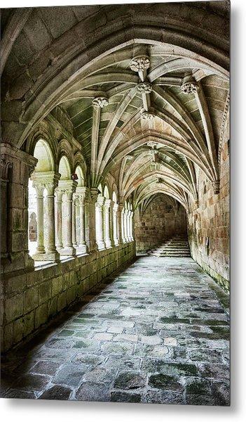 The Corridors Of The Monastery Metal Print