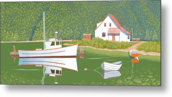 The Cottsge At Blackberry Point Metal Print
