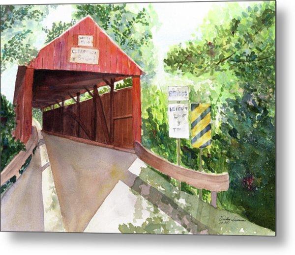 The Covered Bridge Metal Print by Vickey Swenson