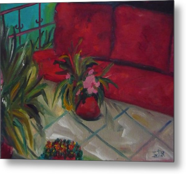 The Covered Terrace Metal Print by Irit Bourla