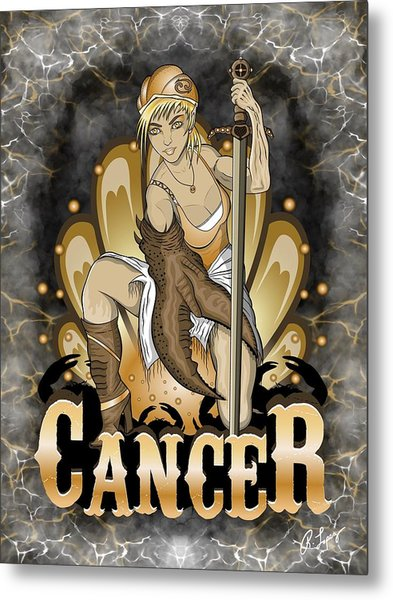The Crab Cancer Spirit Metal Print