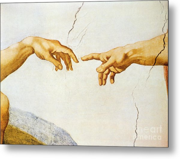 The Creation Of Adam Metal Print