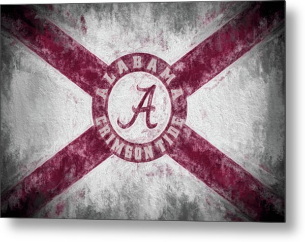 The Crimson Tide State Flag Metal Print by JC Findley